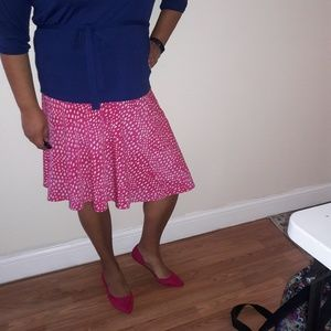 George hot pink with white spots skirt